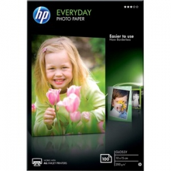 HP Everyday Photo Paper - Papier photo brillant - 8 millièmes de pouce 100 x 150 mm - 200 g/m2 - 100feuille(s)