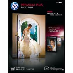 HP Premium Plus Photo Paper - 20 feuille(s) Papier photo brillant - 130 x 180 mm - 300 g/m2- pour Envy 100 D410, 11X D411, Offi